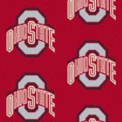 Ohio State University Buckeyes Collegiate Broadloom Carpet and College Area Rugs